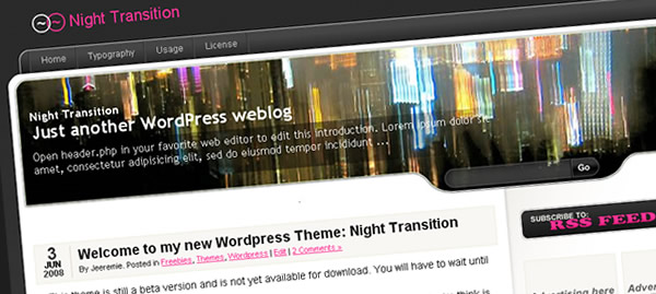 Night Transition - WordPress Theme