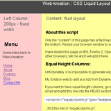 CSS 3 columns Liquid Layout