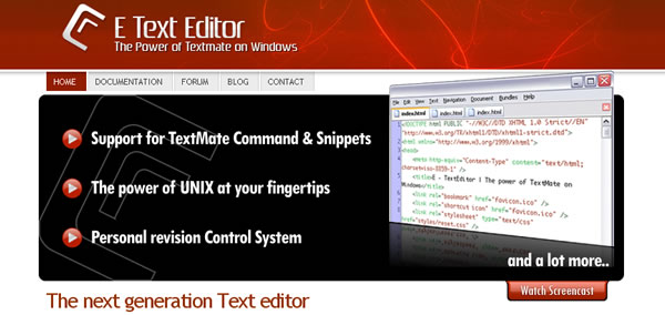 E-TextEditor - Text Editor - The power of TextMate on Windows