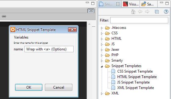 aptana-snippets-templates