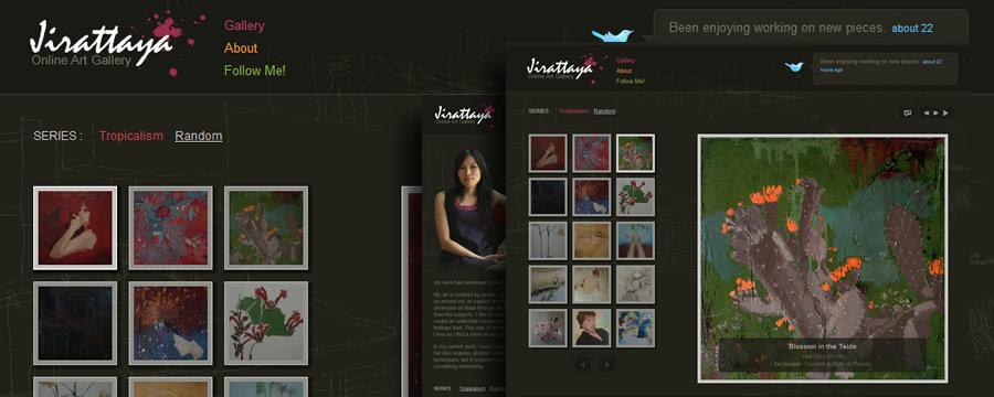 Jirattaya.com, Online are Portfolio of Jirattaya Marwijit